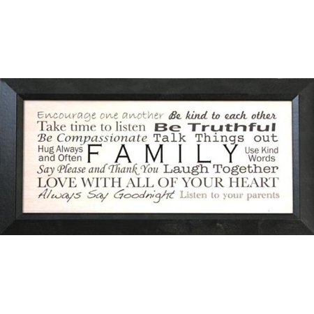 Quote Framed Poster - buyartforless FRAMED be truthful family quotes 18x8 art print poster .