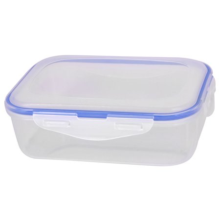 Home Office Rectangle Shape Lunch Microwave Oven Airtight Food Crisper (Clear Controlled Crispers)