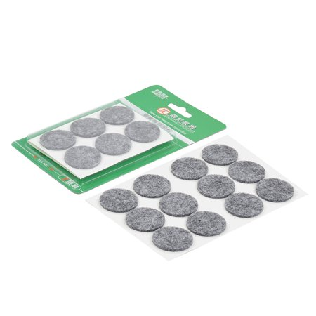 Unique Bargains 24 Pcs Antislip Felt Round 30mm Dia Chair Foot Cover Table Furniture Leg Protector Gray (Felt Top Table)