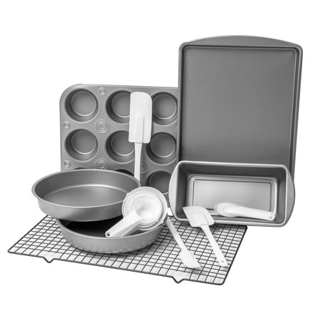 BakerEze 20 Piece Bakeware Set with Cooling Rack & Baking Accessories - Halloween Baking Accessories