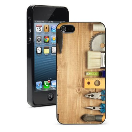 apple iphone 6 plus 6s plus hard back case cover tools on wood deck black. Black Bedroom Furniture Sets. Home Design Ideas