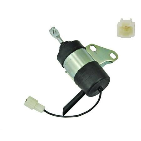 Stop fuel shut off Solenoid for Kubota Mower ZD18 ZD21 ZD221 ZD323 D722 Engine