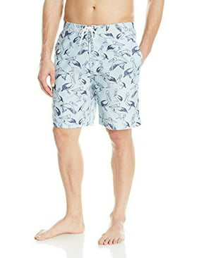 Trunks Men's Swami 8 inch Pattern Swim, Ice Cube/Marine, Large