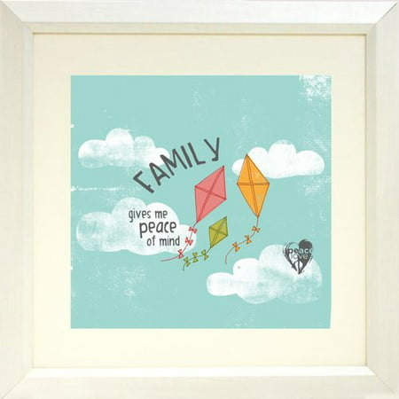 Buy Art For Less 'Family Gives Me Peace of Mind' by PeaceLove Framed Texual Art on Paper