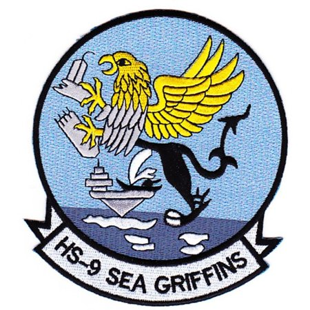 HELICOPTER ANTI-SUBMARINE SQUADRON NINE HS-9 SEA GRIFFINS PATCH USN NAVY (Griffin Patch)