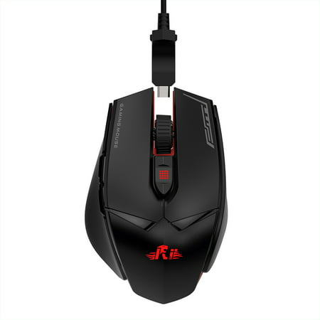 Rii Wired Gaming Mouse 12000DPI 7 Breathing Lights Adjustable DPI 7 Programmable Buttons Ergonomic Mice Support Win10/8/7 for Game and Office Use - image 7 of 7