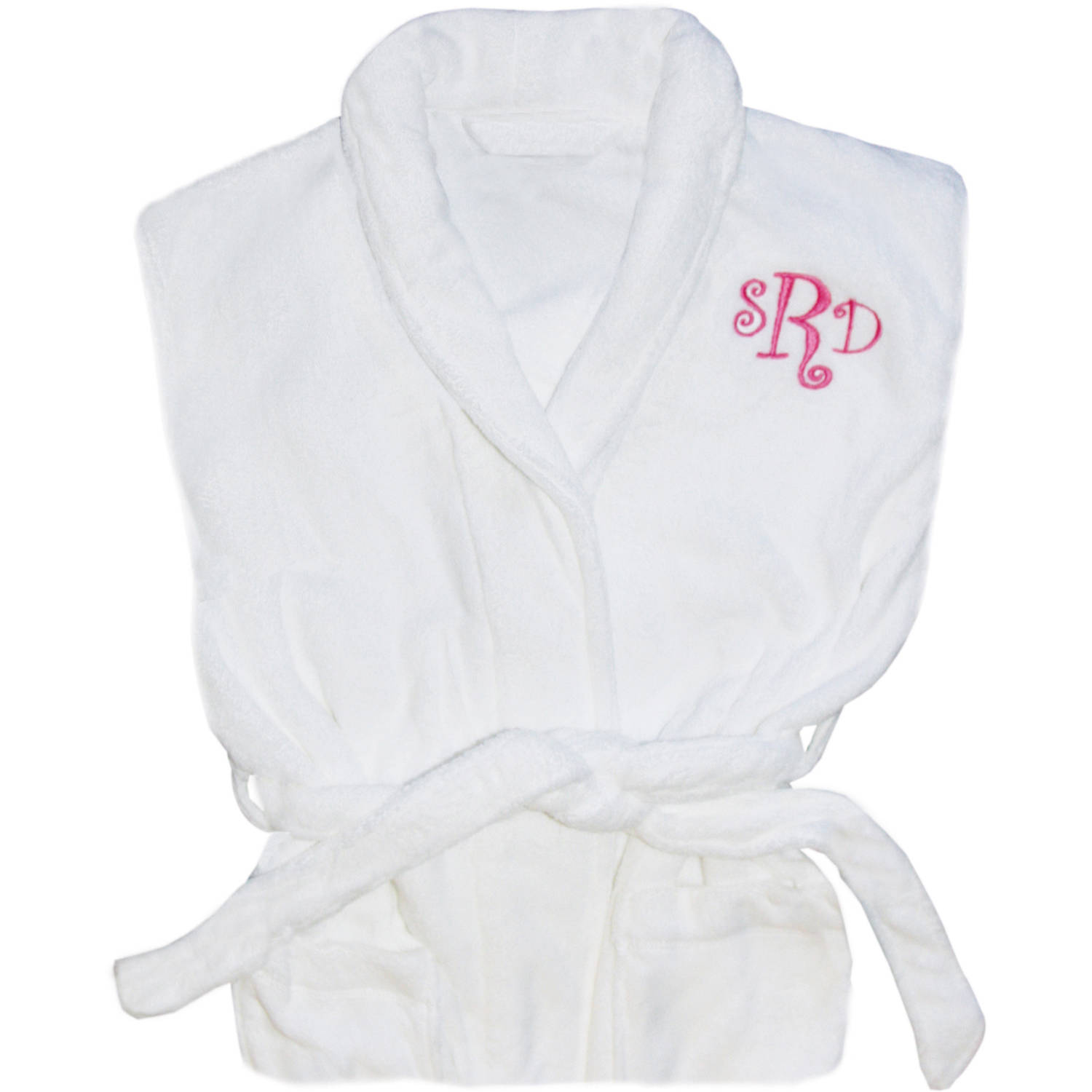 Personalized Shawl Collar Robe, Available in Pink and Navy