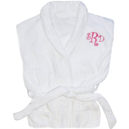 Personalized Shawl Collar Robe Available In Pink And Navy