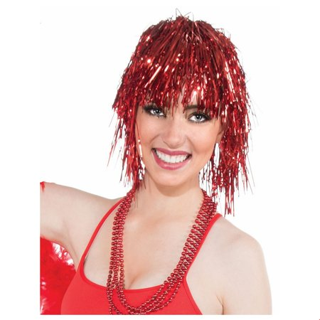 Red Tinsle Wig Halloween Costume Accessory](Red Halloween Costume Wig)