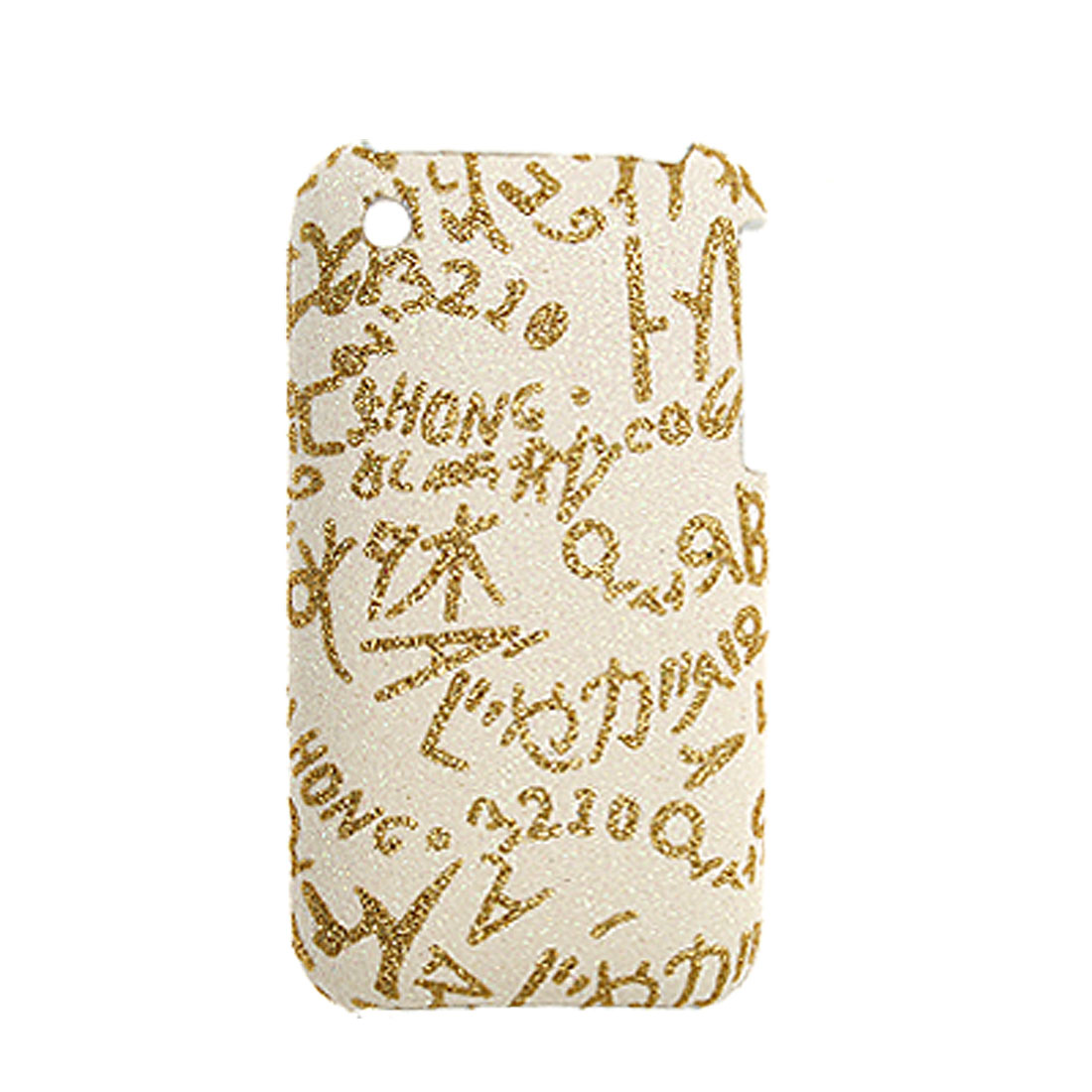 Hard Messy Letter Pattern Case Cover for iPhone 3G 3GS - image 1 of 1