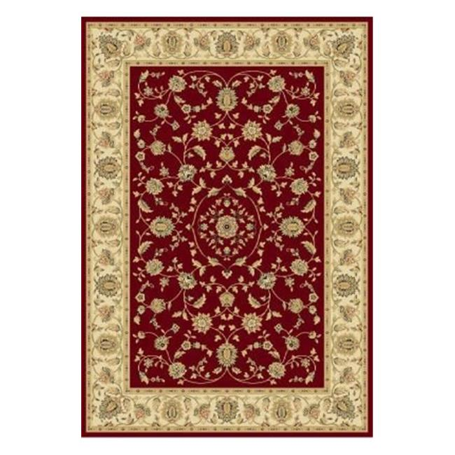Central Oriental 2070CNST27C Radiance Mediterranean 023 Hanover 100 Percent Heavy-Weight Heat Set Polypropylene Stair Tread Rug, Crimson - 9 x 26 in.