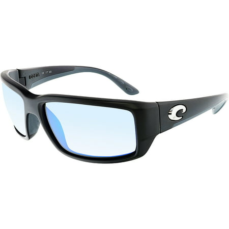 Costa Del Mar Polarized Fantail TF11BMGLP Black Rectangle (Rectangle Sunglasses)