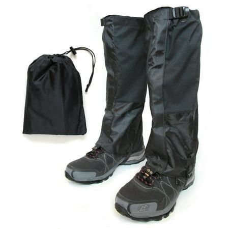 Hiking Gaiter - Waterproof Leg Gaiters for Women and Men - Nylon Lightweight Hiking Shoe Gaiters with Storage (Best Lightweight Waterproof Hiking Shoes)