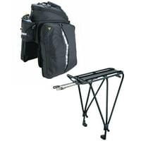 Topeak MTX TrunkBag DXP Rear Rack Bag with Disc Mount Rear Bike Rack