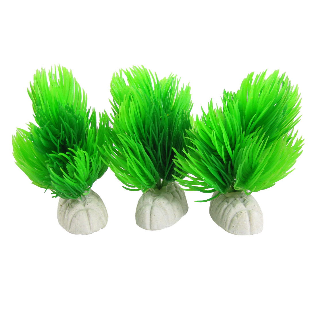 Unique Bargains 3 Pcs Aquascaping Plants Grass Green Decor for Aquarium