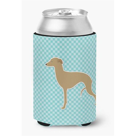 Italian Greyhound Checkerboard Pink Can or Bottle Hugger - image 1 de 1