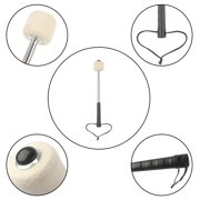 Kritne  Durable Bass Drum Mallet Drumstick with Wool Felt Head Percussion Marching Band Accessory, Drum Mallet, Drum Stick