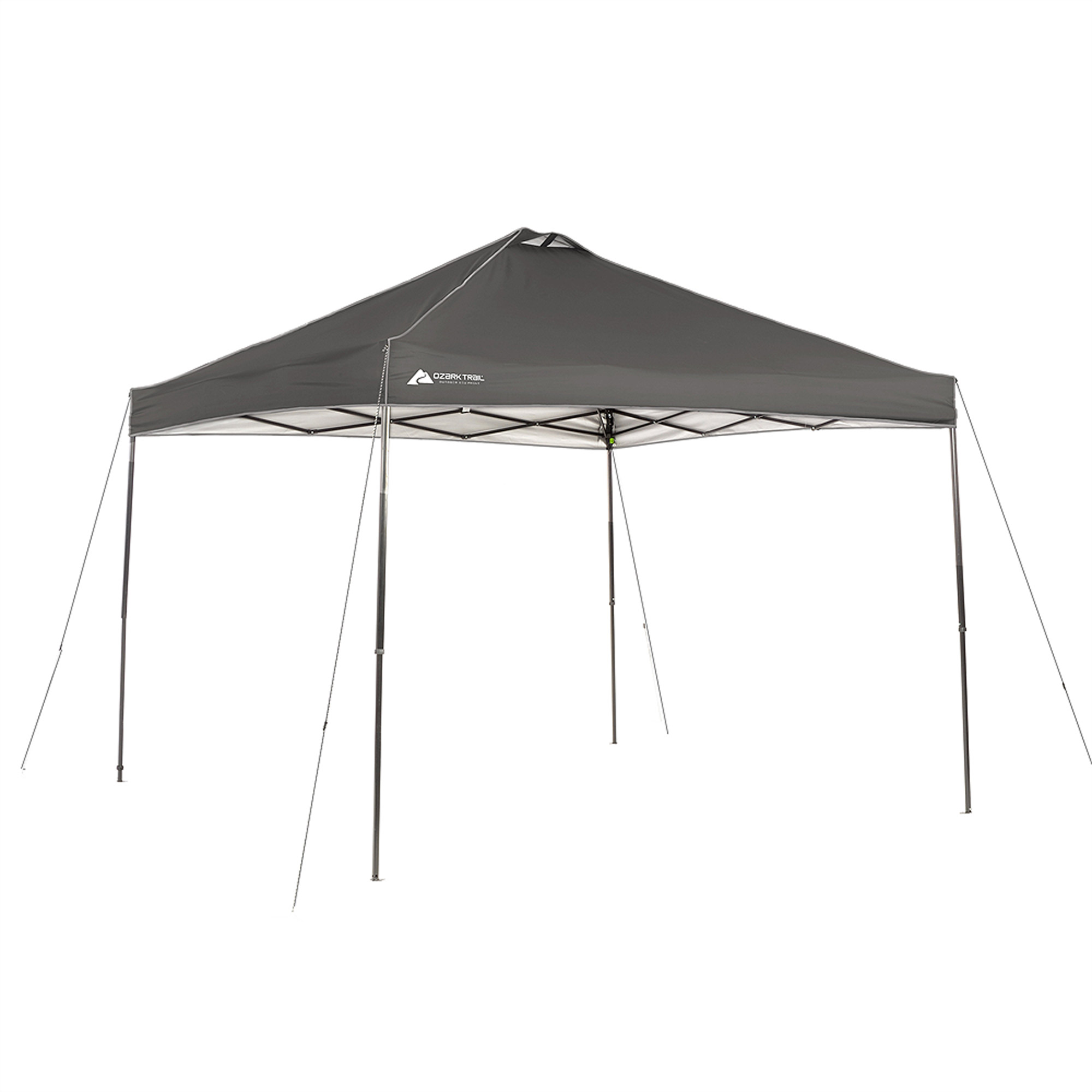 Ozark Trail Instant Canopy Dark Grey 10u0027 x 10u0027 ...  sc 1 st  Walmart & Ozark Trail Instant 10x10 Straight Leg Canopy with 4 Chairs Value ...