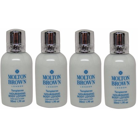 Best Molton Brown Templetree Body Lotion Lot of 4 each 1.7oz bottles. Total of 6.8oz deal