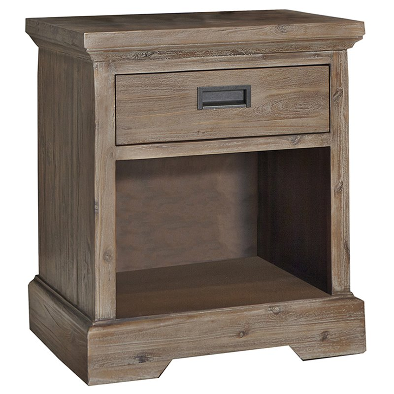 NE Kids Oxford 1 Drawer Nightstand in Cocoa