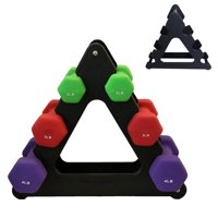 New 1PC Useful Dumbbell Bracket Triangle Small Leaves Big Leaves Different Shapes Dumbbell Bracket Fitness Equipment Accessories