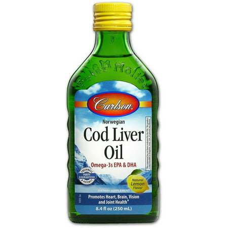 Carlson Labs   Norwegian Cod Liver Oil Liquid Lemon Flavor   8 4 Oz