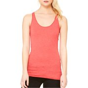 B8430 Canvas Ladies Triblend Racerback Tank - Red Triblend, 2XL