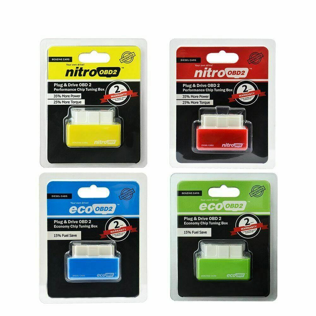 Plug /& Drive OBD2 Benzine Economy Eco Fuel Saver Tuning Box Chip For Petrol Gas