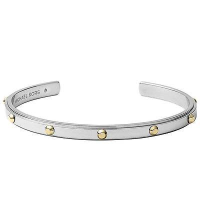 Michael Kors Silver Tone Astor Studded Cuff Bangle Bracelet Mkj3835040