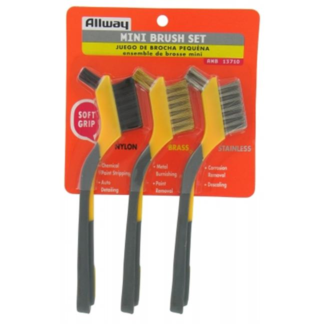 Allway Tools Soft Grip Mini Brush Set  AMB