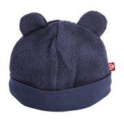 Zutano Unisex-Baby Newborn Cozie Fleece Hat, Navy, 3 Months