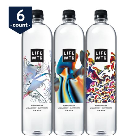f01341a32021 LIFEWTR, Purified Water, pH Balanced with Electrolytes For Taste, 1 Liter  bottles (6 Count)