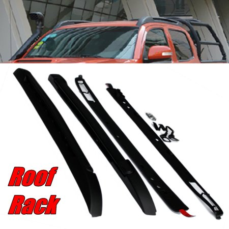 High Capacity Roof Cap - Black Roof Package Carrier Rack Luggage Rack FOR 2017 TOYOTA TACOMA 100-lb. load capacity