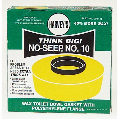 - Harvey Toilet Bowl Gasket  Petroleum Wax/Polyethylene Flange  001115-24
