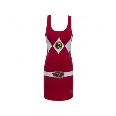 Red Power Ranger Adult Tank Dress