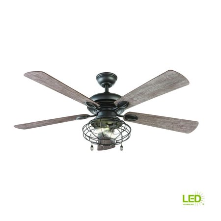Home Decorators Collection Ellard 52 LED Natural Iron Ceiling Fan