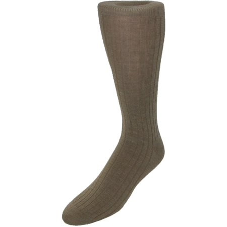 Mens Merino Wool Mid Calf Dress Socks, (Mens Comfort Stretch Wool Dress)