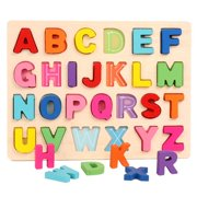 Raypadula Jigsaw Puzzle Number Letters Wooden Alphabet Jigsaw Puzzle Blocks Suitable For Early Childhood Educational Toys