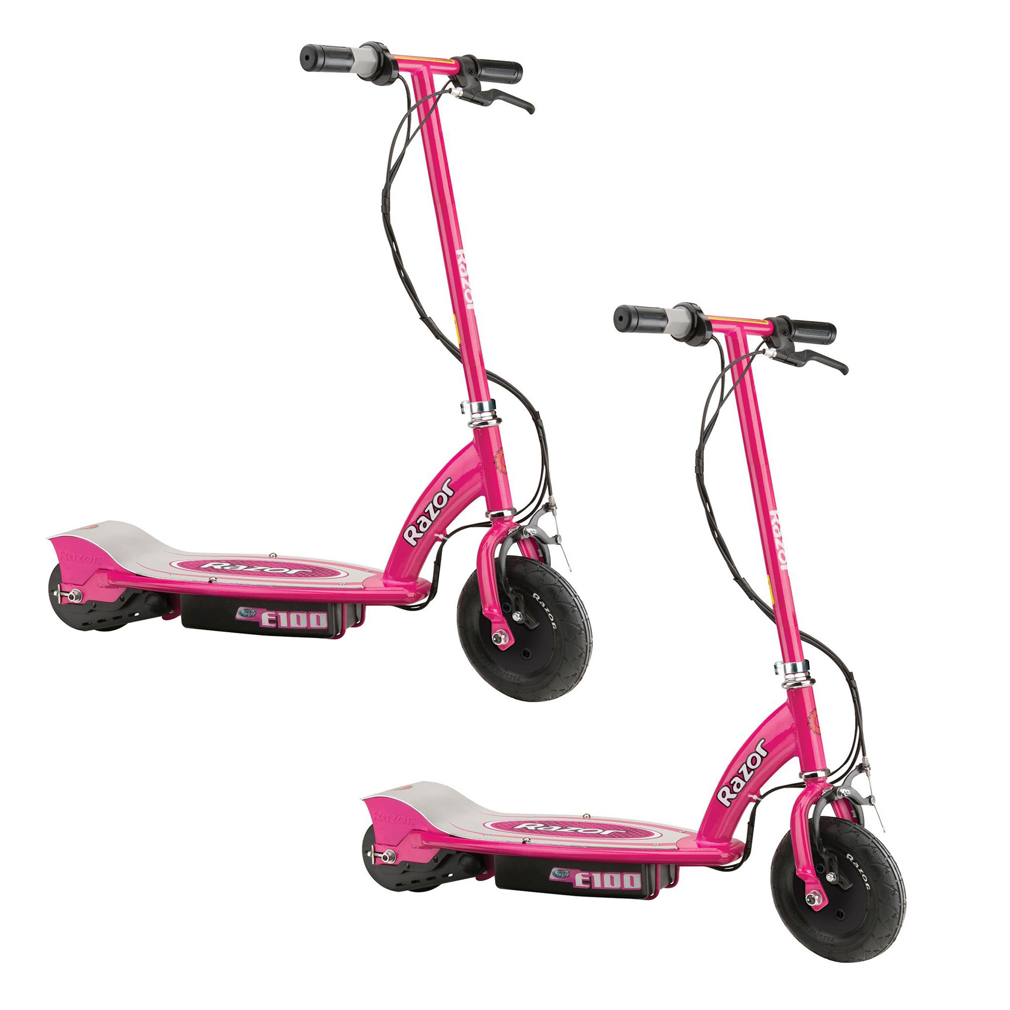 Razor E100 Motorized Electric Powered Ride On Kids Toy Scooter, Pink (2 Pack)