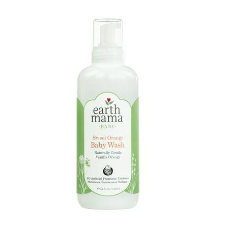 Earth Mama Sweet Orange Baby Wash, 34 Fl Oz