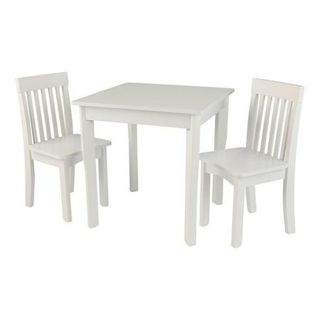 KidKraft Avalon Square Table & 2 Chair Set - White - Walmart.com