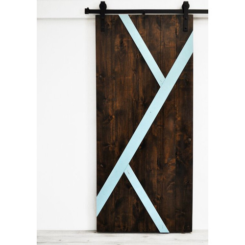 Dogberry Collections Mod-Y Wood 1 Panel Interior Barn Door