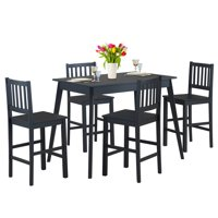 5-Piece Costway Counter Height Kitchen Table Dining Set