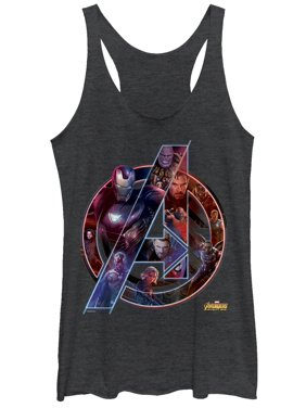 3e170f2f Free shipping. Product Image Marvel Women's Avengers: Infinity War Logo  Racerback Tank Top