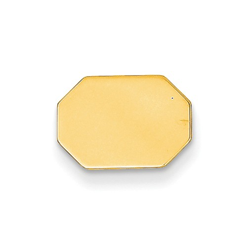 14k Yellow Gold Engravable Tie Tac
