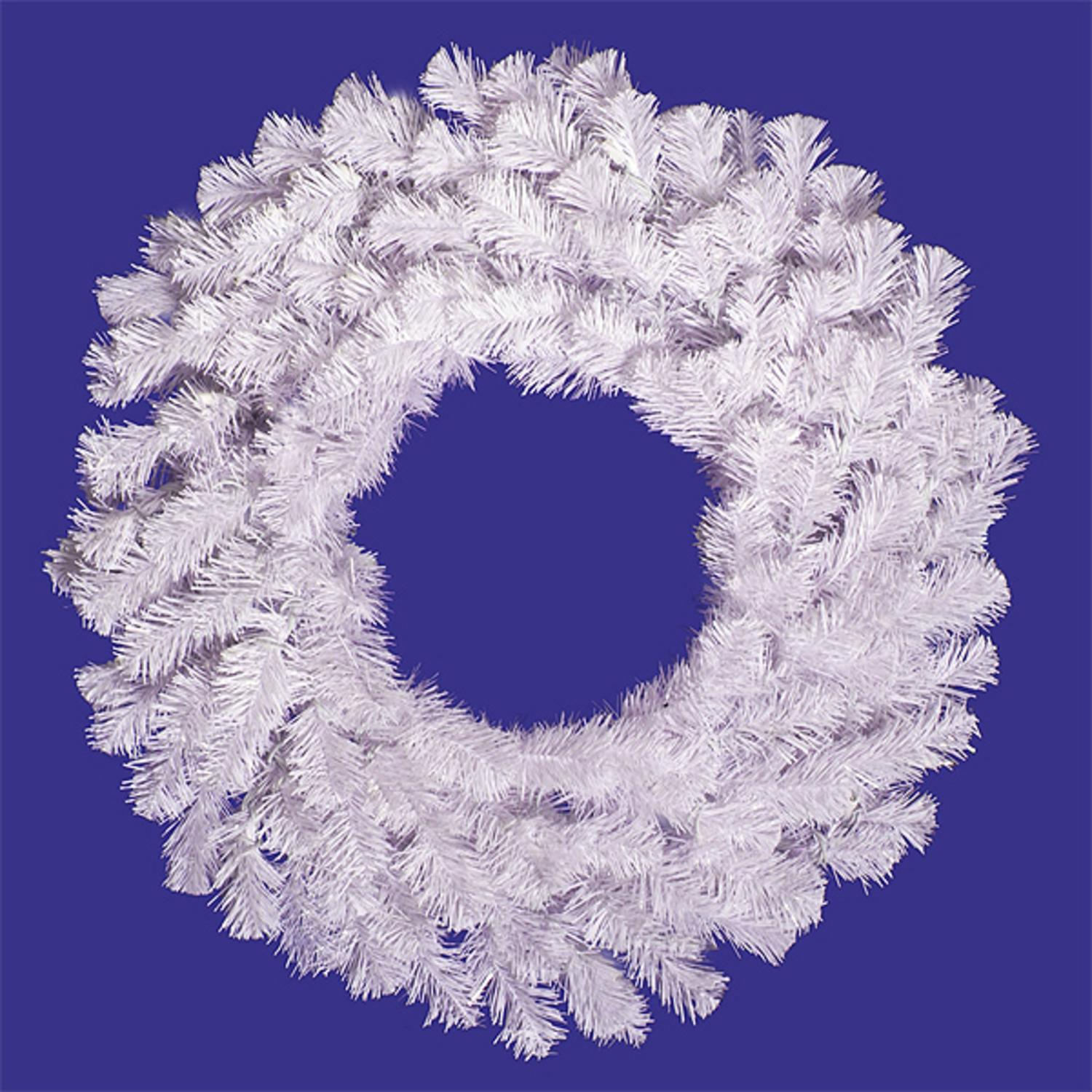 """60"""" Crystal White Spruce Artificial Christmas Wreath - Unlit"""