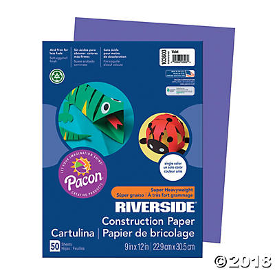 Pacon® Riverside® Construction Paper - Violet(pack of 1)