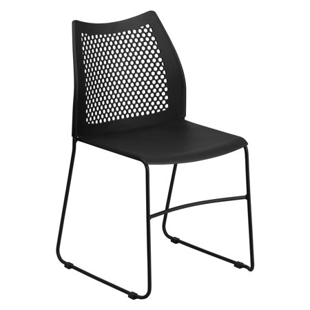 Flash Furniture HERCULES Series 661 lb Capacity Sled Base Stack Chair with Air-Vent Back, Multiple Colors