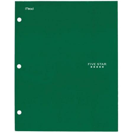 Five Star 4-Pocket Paper Folder, Electric Green (33629)