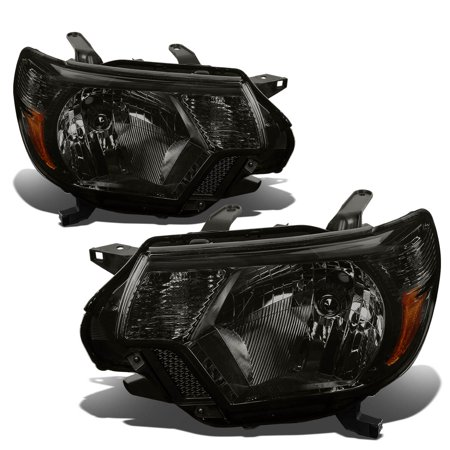 - For 12-15 Toyota Tacoma 2nd Gen Facelifted Pair Headlight Smoked Housing Amber Corner Headlamps 13 14 Left+Right